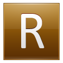 Letter-R-gold icon