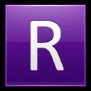 Letter-R-violet icon