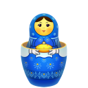 Blue-matreshka-inside-icon icon