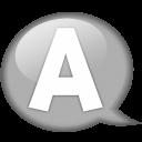 Speech-balloon-white-a icon