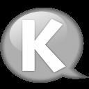 Speech-balloon-white-k icon