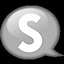Speech-balloon-white-s icon