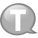 Speech-balloon-white-t icon