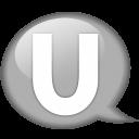 Speech-balloon-white-u icon