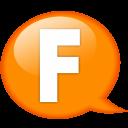 Speech-balloon-orange-f icon
