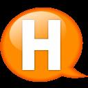 Speech-balloon-orange-h icon