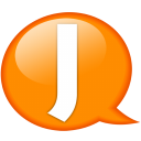 Speech-balloon-orange-j icon