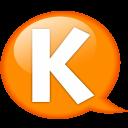 Speech-balloon-orange-k icon