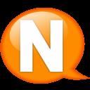 Speech-balloon-orange-n icon