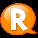 Speech-balloon-orange-r icon