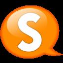 Speech-balloon-orange-s icon