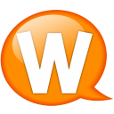 Speech-balloon-orange-w icon