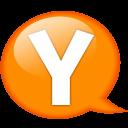Speech-balloon-orange-y icon