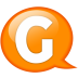 Speech-balloon-orange-g icon
