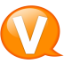 Speech-balloon-orange-v icon