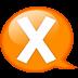 Speech-balloon-orange-x icon