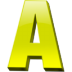 Letter-a icon
