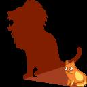 Cat-shadow-lion icon