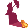 Cat-shadow-lady icon
