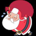 Santa-heavy-bag icon