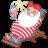 Santa-relax-summer icon