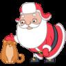 Santa-cat icon