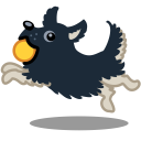 Dog-ball-running-jumping icon