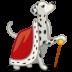 Dog-dalmatian-king icon