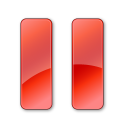 Pause-Normal-Red icon