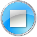 Stop-Pressed-Blue icon