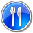 Restaurant-Blue icon