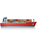 Container-Ship-Right-Red icon