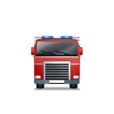 Fire-Truck-Front-Red icon