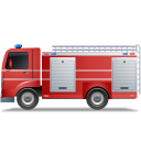 Fire-Truck-Left-Red icon