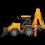 BackhoeLoader-Left-Yellow icon