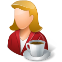 Rest-Person-Coffee-Break-Female-Light icon