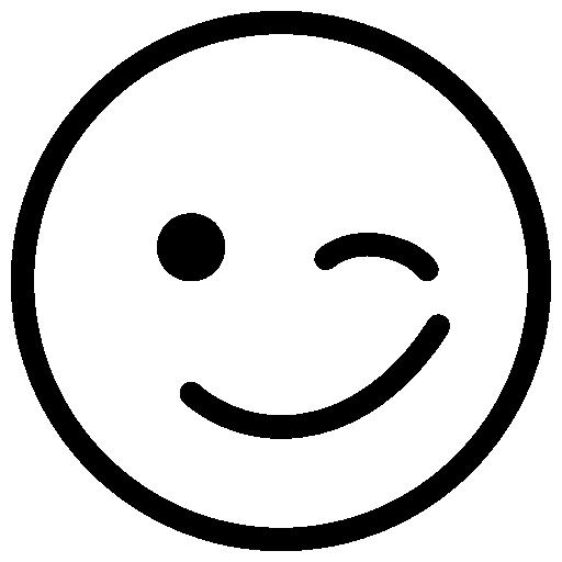 """Résultat de recherche d'images pour """"emoji clin d'oeil noir et blanc"""""""