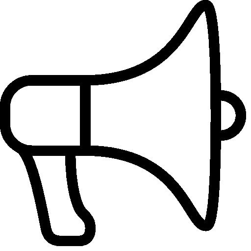 sehr grundlegende elektrische megaphon symbol - ico,png,icns Gratis ...
