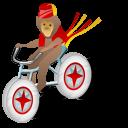 Monkey-bicycle icon