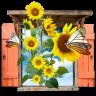 Flowers-Sunflowers-Window icon