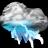 Thunder-lightning-storm icon