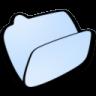 Folder-lightblue-open icon