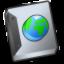 Document-globe icon