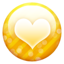 Gold-button-heart icon