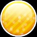 Gold-button icon
