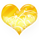 Heart-gold icon