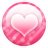 Pink-button-heart icon