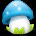 Mushroom-blue icon