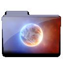 Planet-folder icon