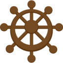 Ship-steering-wheel icon